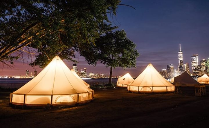 You Can Camp under the Stars on Governors Island This Summer